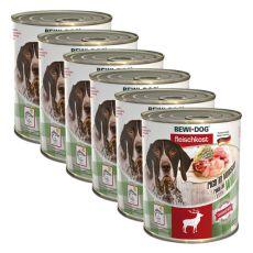Novo BEWI DOG konzerva – divjačina - 6 x 800 g, 5+1 GRATIS