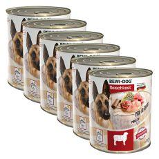 Novo BEWI DOG konzerva – jagnjetina - 6 x 800 g, 5+1 GRATIS