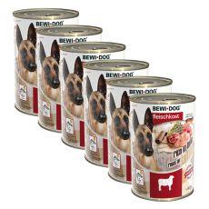 Novo BEWI DOG konzerva – jagnjetina - 6 x 400 g, 5+1 GRATIS