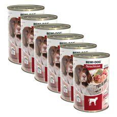 Novo BEWI DOG konzerva – teletina - 6 x 400 g, 5+1 GRATIS