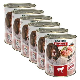 Novo BEWI DOG konzerva – teletina - 6 x 800 g, 5+1 GRATIS