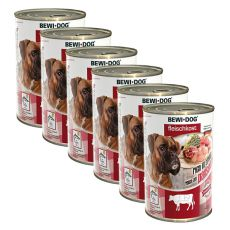 Novo BEWI DOG konzerva – goveji vampi - 6 x 400 g, 5+1 GRATIS