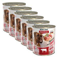 Novo BEWI DOG konzerva – goveji vampi - 6 x 800 g, 5+1 GRATIS
