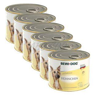 Pašteta BEWI DOG - piščanec - 6 x 200 g, 5+1 GRATIS