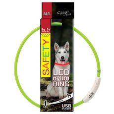 Pasja ovratnica Fantasy LED, najlonska - zelena, 65 cm