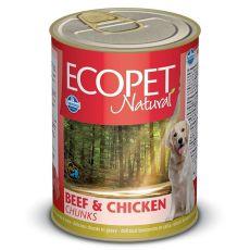 Pasja hrana Farmina MO P ECOPET Bicolore z govedino in piščancem - 1250 g tin