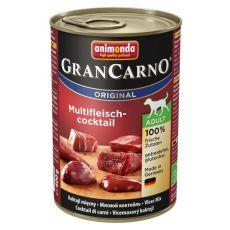 Konzerva pasje hrane GranCarno Original Adult z mesnim kokteljom - 400 g