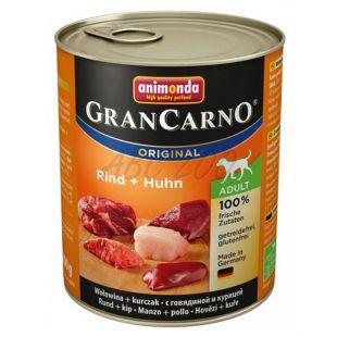Konzerva GranCarno Original Adult z govedino in piščancem - 800 g