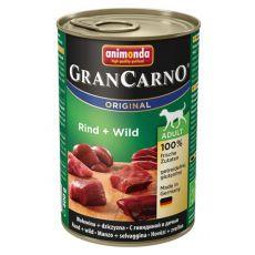 Konzerva GranCarno Original Adult z govedino in divjačino - 400 g