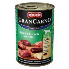 Konzerva GranCarno Original Adult govedina, jelen in jabolka - 400 g