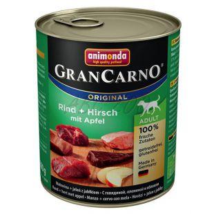 Konzerva GranCarno Original Adult z govejim in jelenjim mesom ter jabolkami - 800 g