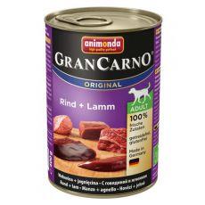 Konzerva GranCarno Original Adult z govedino in jagnjetino - 400 g