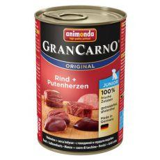 Konzerva GranCarno Fleisch Junior z govedino in puranjimi srci - 400 g
