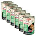 Konzerva mačje hrane CARNY ADULT z govejim, puranjim in zajčjim mesom - 6 x 400 g
