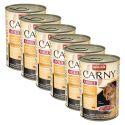 Konzerva mačje hrane CARNY ADULT  z govedino in piščančjimi ter račjimi srci - 6 x 400 g