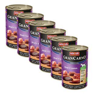 Konzerva GranCarno Original Adult z govedino in jagnjetino - 6 x 400 g