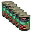 Konzerva GranCarno Original Adult z govejim in jelenjim mesom ter jabolkami - 6 x 800 g