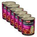 Konzerva GranCarno Original Adult z govedino in srci - 6 x 800 g