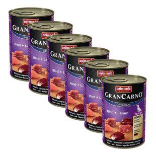 Konzerva GranCarno Original Senior z govedino in jagnjetino - 6 x 400 g