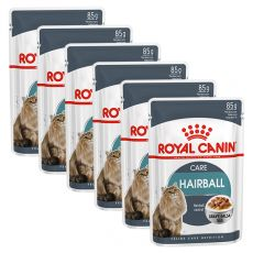 Vrečka z mačjo hrano Royal Canin HAIRBALL CARE 6 x 85g