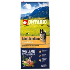 ONTARIO Adult Medium Lamb & Rice 12 kg