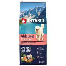 ONTARIO Adult Large 7 Fish & Rice 12 kg