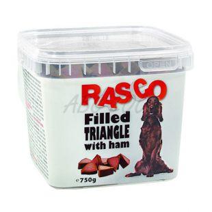 RASCO pasji priboljški – trikotniki napolnjeni s šunko, 750 g