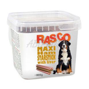 RASCO pasji priboljški – maxi zvezdaste palčke iz šunke z jetrci, 800 g