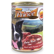 Konzerva PRINCE Premium - govedina z papajo, korenjem in špinačo 400 g
