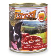 Konzerva PRINCE Premium - govedina z papajo, korenjem in špinačo 800 g