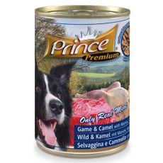 Konzerva PRINCE Premium – divjačina, kamela in skladki krompir s korenčkom in grahom 400 g