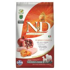 Farmina N&D dog GF PUMPKIN adult medium/maxi, chicken & pomegranate - 12 kg