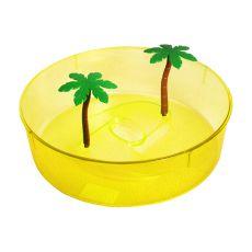Plastičen terarij za želve - rumen, 24,5 cm