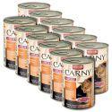 Konzervirana mačja hrana CARNY ADULT z govedino in piščancem - 12 x 400 g
