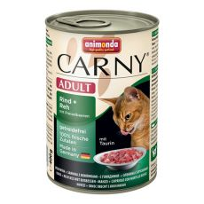 Konzerva mačje hrane CARNY ADULT z govedino, srno in brusnicami - 400 g