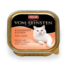 Animonda Vom Feinsten Castrated Cats - puran + losos 100 g