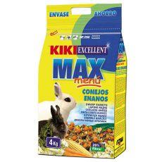 KIKI EXCELLENT MAX MENU - hrana za pritlikave kunce 4 kg