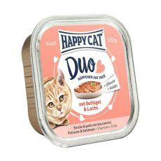 Happy Cat DUO MENU - perutnina in losos, 100 g