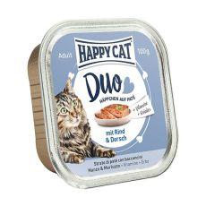 Happy Cat DUO MENU - govedina in trska, 100 g