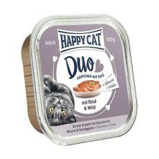 Happy Cat DUO MENU - govedina in divjačina, 100 g