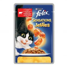 Felix Sensations - govedina s paradižnikom v želatini, 100 g