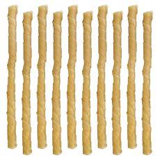 Žvečilna palčka za pse - zvita, 5-6 mm / 10 kosov