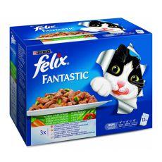 Felix Fantastic - mesna ali ribja različica z zelenjavo, 12 x 100 g