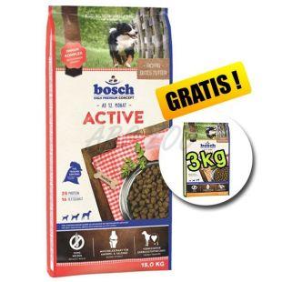 Bosch ACTIVE 15 kg + 3kg Adult Poultry and Millet 3 kg BREZPLAČNO