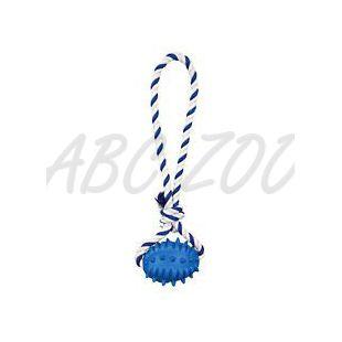 Pasja igrača - žoga za rugby na vrvici, 8 cm