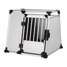 Aluminijasta škatla za prevoz psov - 94 x 87 x 93 cm