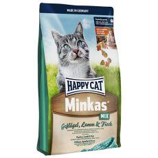 Happy Cat Minkas MIX - perutnina, jagnjetina in riba - 4 kg