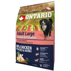 ONTARIO Adult Large - chicken & potatoes 2,25 kg
