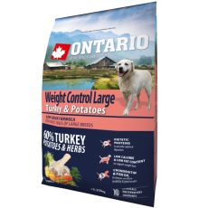 ONTARIO Weight Control Large - turkey & potatoes 2,25 kg