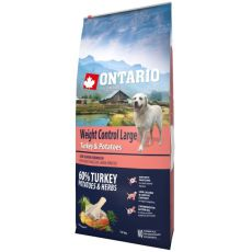 ONTARIO Weight Control Large - turkey & potatoes 12 kg